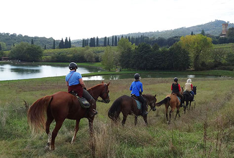 Horseback riding in Italy